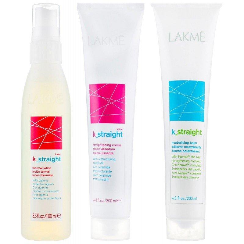 Комплекс для випрямлення пористих волосся з тепловим впливом Lakme K.Straight Ionic Straightening System Porous Hair 1