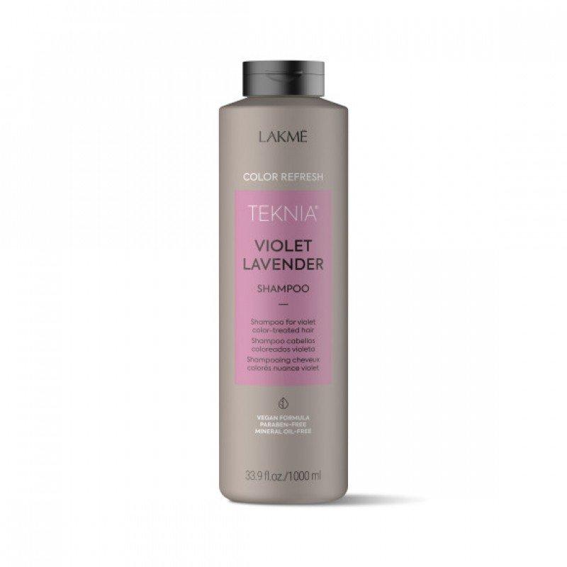 Шампунь для оновлення кольору фіолетових відтінків волосся Lakme Teknia Color Refresh Violet Lavender Shampoo 1000 мл