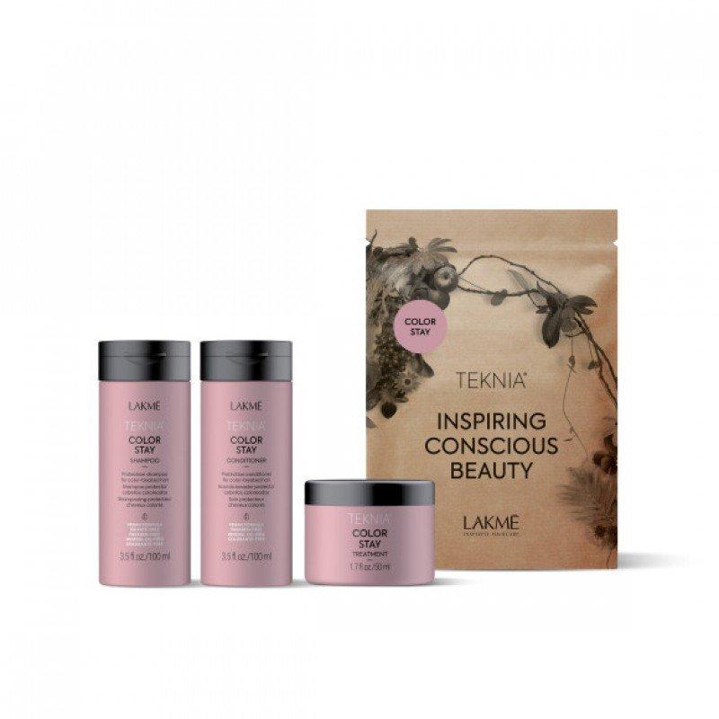 Дорожній набір для фарбованого волосся Lakme Teknia Color Stay Travel Pack