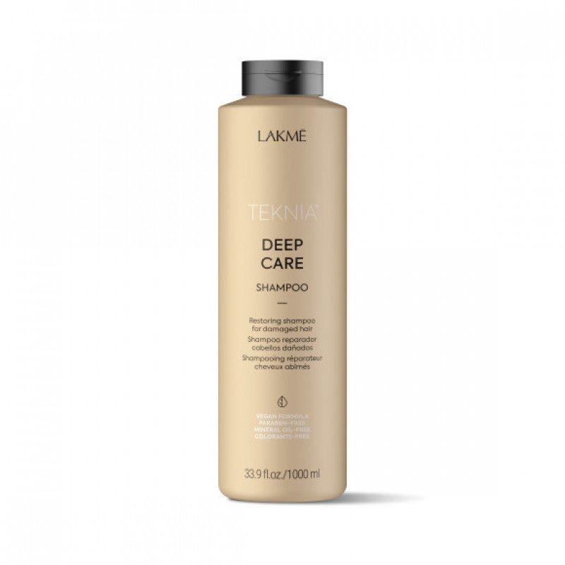 Відновлювальний шампунь для пошкодженого волосся Lakme Teknia Deep Care Shampoo 1000 мл