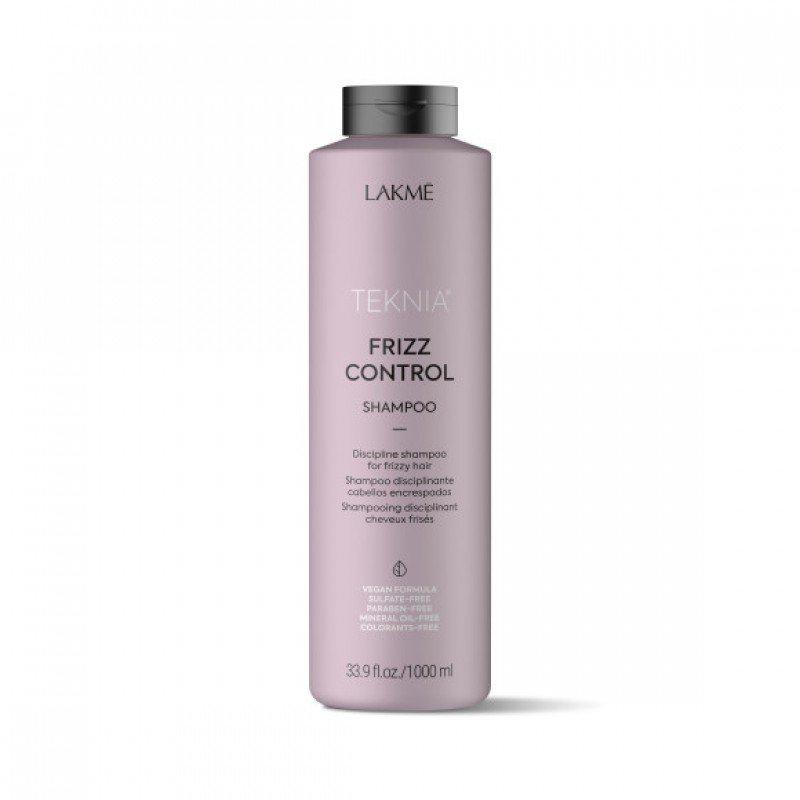 Бессульфатний дисциплінуючий шампунь Lakme Teknia Frizz Control Shampoo 1000 мл